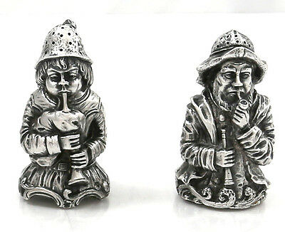 German 800 Silver Figural Salt & Pepper Karl Schatz Hanau