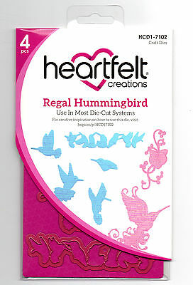 Heartfelt Creations Regal Hummingbird Die for Cardmaking,Scrapbooking, etc