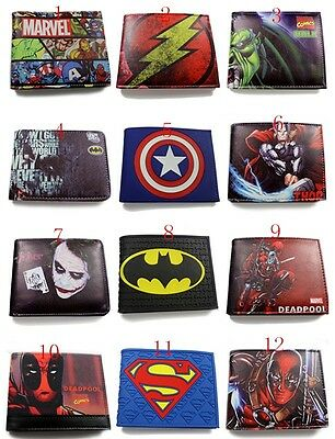 The Avengers Marvel Comics Hulk Captain America Joker Leather Wallet New