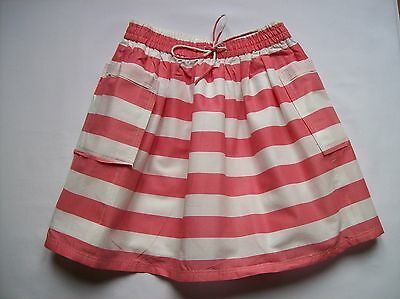 Bnwot Girls Ex Next Pink & Cream Stripe Skirt - Fully Lined - Ages 3 To 12 Years