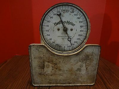 ANTIQUE 1921 HEALTH O METER CONTINENTAL SCALE WORKS  Exc. Patina ***FAST S/H***