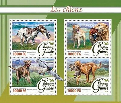 Z08 Imperforated GU16204a GUINEA 2016 Dogs MNH