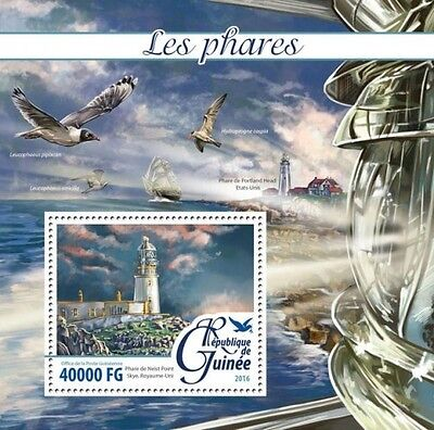 Z08 Imperforated GU16213b GUINEA 2016 Lighthouses MNH