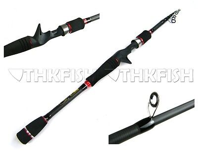 New! 6.4ft/6.9ft 1.95m/2.1m THKFISH Collapsible Telescopic Casting Fishing Rod