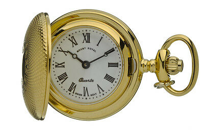 Mount Royal Ladies Pendant Watch, Gold Plated Hunter , Quartz Movement.  B32