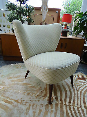 A Vintage East German Bartholomew Cocktail Chair Original Material C1955 Jn16/13