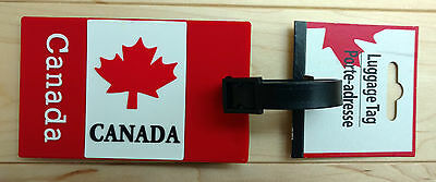 Canada Flag Style Maple Leaf Luggage Tag with ID