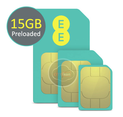 EE 4G PAYG Multi SIM Card Preloaded With 10GB Data for 30 Days