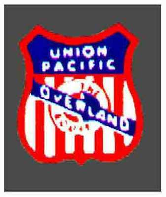 UNION PACIFIC F9 DIESEL NOSE ADHESIVE STICKER for American Flyer S Gauge Trains