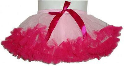 NEW Fairy Girls Mini Pettiskirt Pink with Hot Pink Ruffles Size L