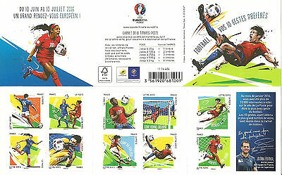 New Issue France  Euro 2016 Booklet Mnh