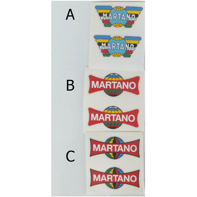 MARTANO Vintage Style Bicycle Rim Decals Stickers Pair of