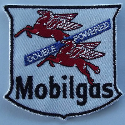 Mobilgas double powered flying red horse embroidered cloth patch D020201