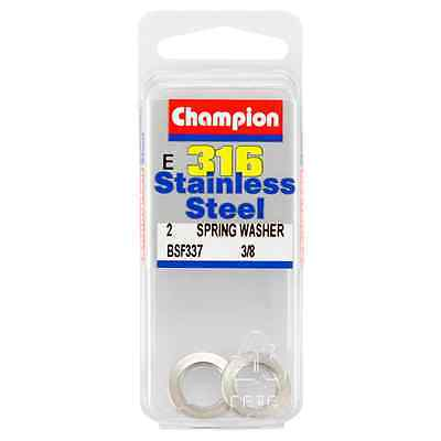 Champion 3/8 E316 Stainless Steel Spring Washer BSF337 – 2Pc