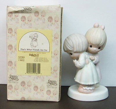 1990 Precious Moments Figurine ~ THAT'S WHAT FRIENDS ARE FOR #521183 ~ 1st Year