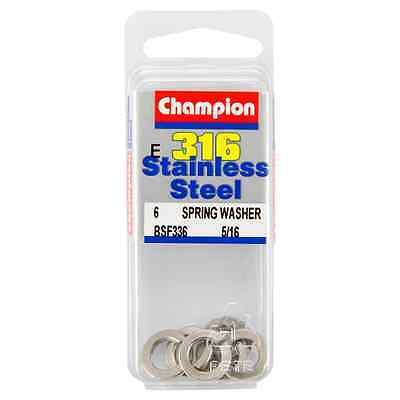 Champion 5/16 E316 Stainless Steel Spring Washer BSF336 – 6Pc