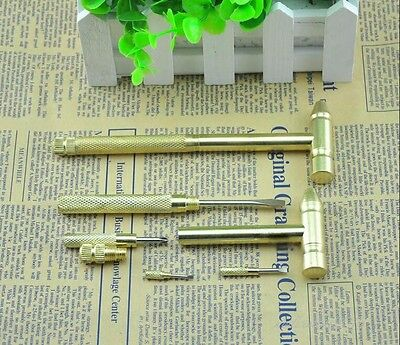 6 In 1 Mini Multi-purpose Pacifier Copper Plating Small Ball Peen Hammer