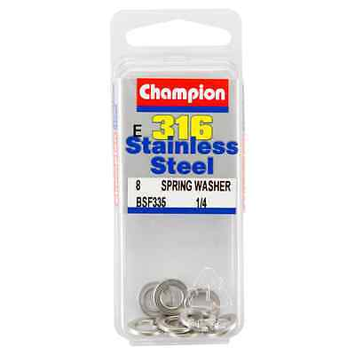 Champion 1/4 E316 Stainless Steel Spring Washer BSF335 – 8Pc