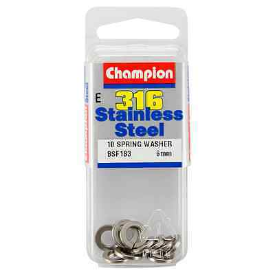 Champion 6mm E316 Stainless Steel Spring Washer BSF183 – 10Pc