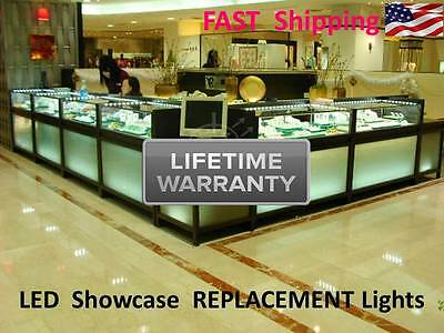 8ft. Showcase Replacement Light - NATURAL WHITE - super bright - easy AAA