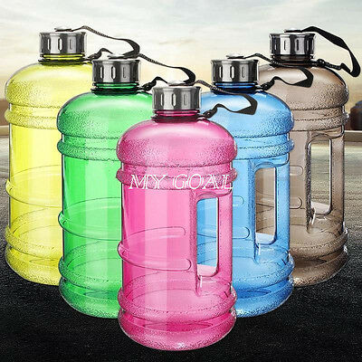2.2L Large BPA Sport Gym Training Workout Drink Water Bottle Cap Kettle Camping