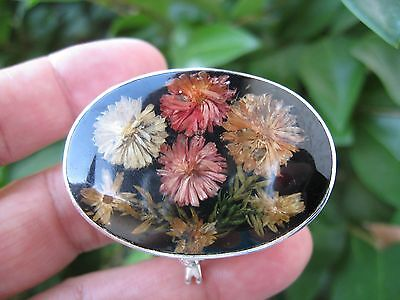 Sterling Silver Mexico Vtg Signed Flowers Inlay Pill/trinket Box