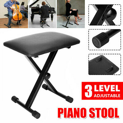 AU Ship PORTABLE Adjustable 3 Way Keyboard Piano Stool Folding Seat Bench Chair