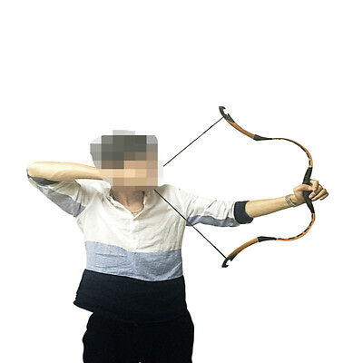 10-40# Mini Bow Brown Pigskin Chinese Handmade Archery Hunting Horsebow Longbow
