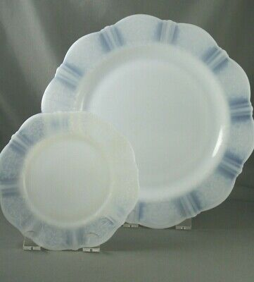 Macbeth Evans American Sweetheart Opalescent Glass Plates 10 and 6 inch