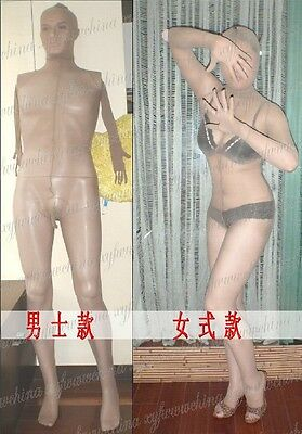 Sheer mens bodystocking with glove sheath and mask SW09C021