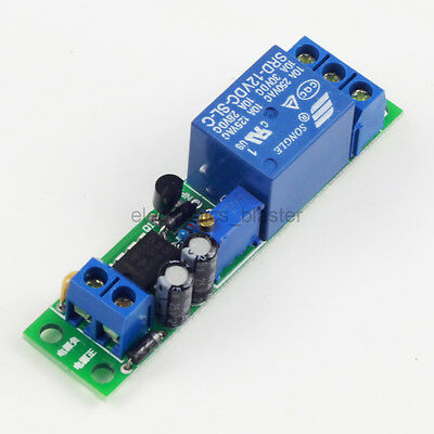 Time Off-delay Relay Module Adjustable Time Delay Switch Module 12V