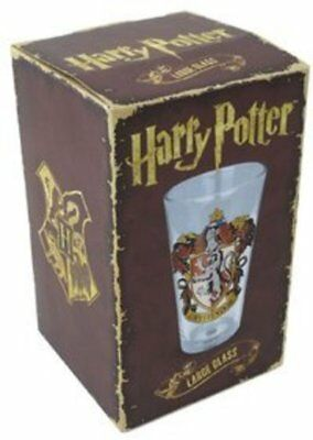 Harry Potter : Large Glass with GRYFFINDOR Crest from Half Moon Bay and Boxed