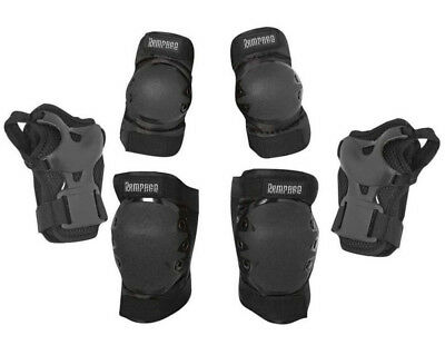 Roller Skate Skating Scooter Cycling KNEE ELBOW PALM Protective Gear Pad Black