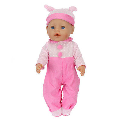 pink jumpsuit clothes Wearfor 43cm Baby Born zapf (only sell clothes )