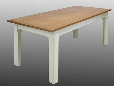 Dining / Kitchen Table - Handmade, Teak, Painted Pine (Delivery available)