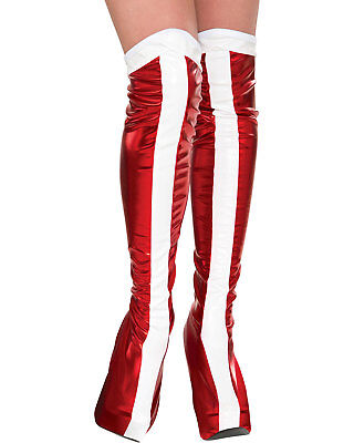 Morris Costumes Women's Wonder Boottops Red/White One Size. RU32217
