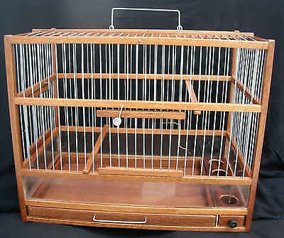 Christmas Gift Ideas : Wooden Hand Crafted Bird Cage;  Slide Out Tray, Plexiglas