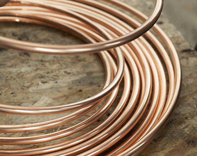 6mm 8mm 10mm COPPER PIPE Microbore Copper Tube choose a length