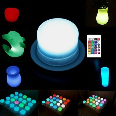 16 Colors Bath Pool Spa Light Waterproof Outdoor Remote Control Rechargeable