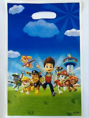 Paw Patrol Lolly Loot Bags 10 Pack Favour Birthday Party Decorations Supplies