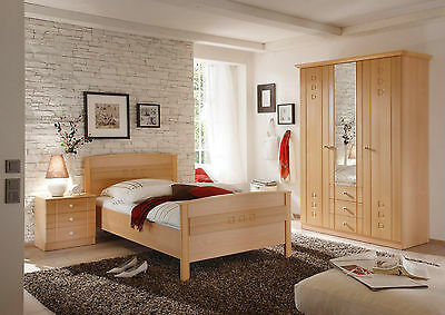 schlafzimmer schrank bett 1 80 x 2 00m buche schrankwand eur 1 00 picclick de. Black Bedroom Furniture Sets. Home Design Ideas