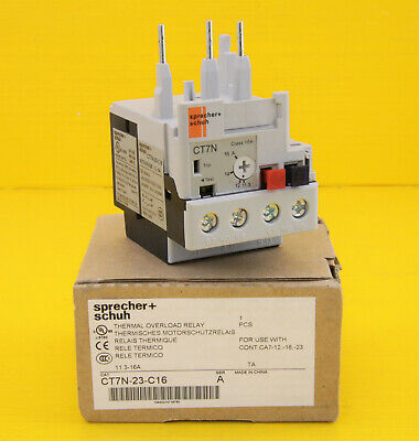 Sprecher + Schuh  CT7N-23-C16 , Thermal Overload Relay , 11.3 - 16A