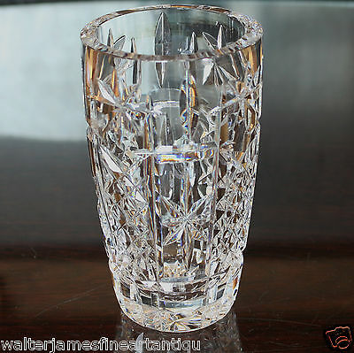 "Vintage Cut Crystal Glass Vase, 5.75"" 150 mm tall, 720 grams"