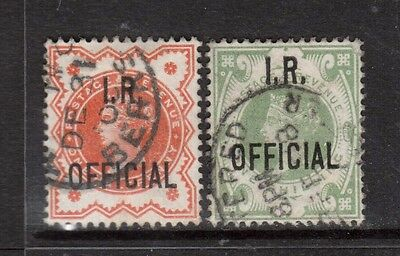 Great Britain #O11 - #O12 VF Used Dated Duo
