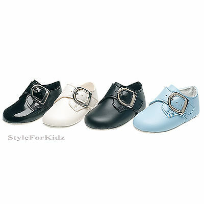 Baby Boys Shoes Christening Wedding Buckle Baby Pram Shoes Special Occasion