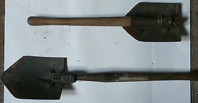 Genuine Military Entrenching Shovel - Folding Ww2 / Korean Conflict