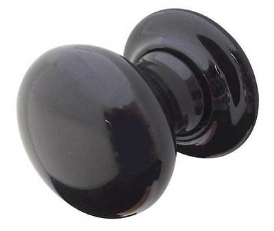 Black Ceramic Mortice Door Knobs 62mm (Pair) JC60
