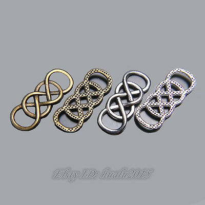 20Pieces 33*13mm Lover infinity Connector Charms Tibetan Silver Jewelry Bracelet