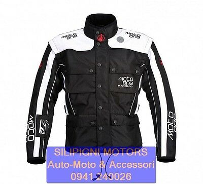 MOTO ONE ERZBERG ACT D6 Nero-Bianco GIACCA MOTO ENDURO MX OFF ROAD - M1 MJ 300