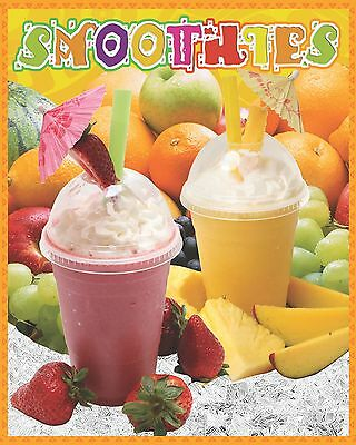 Smoothies Poster for Restaurant 12x18in Poster